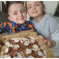 Tilly and Freddie's creme egg brownies!