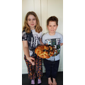 Nicola and Matthew made cholla bread.