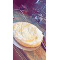 Tia's white chocolate and lemon cheesecake!