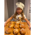 Sophie made bread rolls! How delicious do they look!