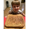 Tom made delicious focaccia bread!