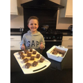 Ethan's chocolate malteser tiffins!