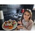 Isabelle's chocolate fudge cupcakes!