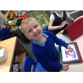 We also practise letter formation and educational games on the iPads!