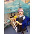"""I'm the fairy princess, cooking a pie!"""
