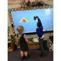 We love using the Interactive Whiteboard in Reception!