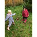 We made habitats for the woodland wildlife!