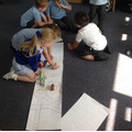 Designing our own road map to play with - fantastic collaboration!