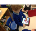 We also use iPads to practise our drawing!