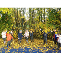 We loved playing in the crunchy leaves! Such beautiful colours in Autumn!