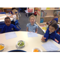 We explored the features of each fruit during our taste tests.