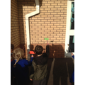 We explored shadows by making shadow puppets.