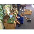 Small-world play based on our Percy the Park Keeper story!