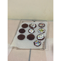 We followed a recipe to make chocolate biscuits!