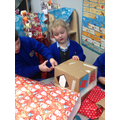 """""""We designed a colourful Robot head with lots of patterns on it!"""""""