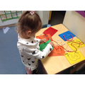 Practising fine motor skills and number formation