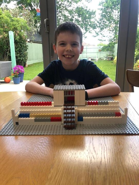 James with his impressive Maya structure