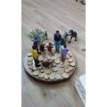 Small world play - creating a bonfire