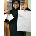 Tehreem loves to express her emotions through art.