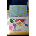 Matching the continents using an atlas