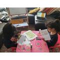 Jana and Mayar are working hard.