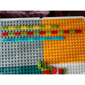 Maahi has used lego to make her patterns