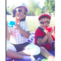 Raksana and her brother had a picnic.