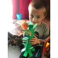 Alexandru made a fantastic giant for his beanstalk
