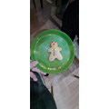 Jackson has made and decorated a gingerbread man