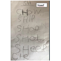 Yosef's list of words with sh sound