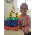 Simaran's beautiful castle makes her happy,