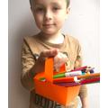 Alexandru put 34 crayons in his basket.