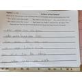 Jana wrote some excellent sentences.