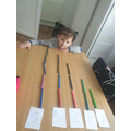 Kevin has used lots of pens to count