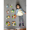 Maahi has counted different food that she has collected