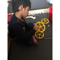 Ayush has made a bus using Kinex
