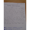 A great piece of sustained writing. Well done!