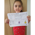 Well done to Denisa!