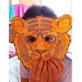 Halima in her tiger mask