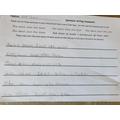 Mayar wrote some excellent sentences.