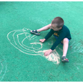 Alexandru's chalk art