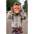 Elisa in her tiger mask