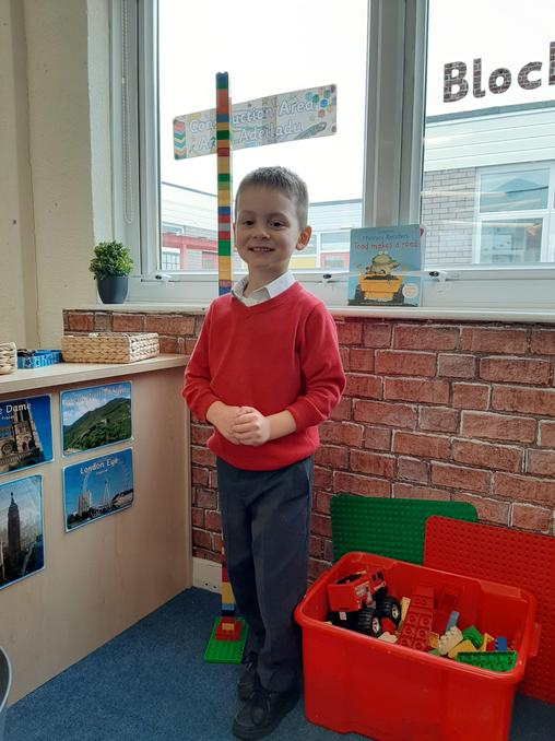 I've built a tower that is taller than me!