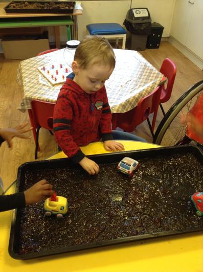 Sensory food play - jelly
