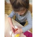Breaking the eggs