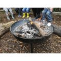 Toasting marshmallows in our Forest School session