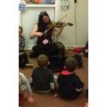 Miss Hibbert plays the violin