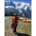 preparing for paragliding