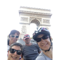 At the arc de Triomple in Paris