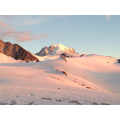 Sunset on the glacier de la Tour